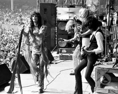 Aerosmith is an American rock band that was popular in the 1970's. Their style was mostly pulled from blues -based hard rock.
