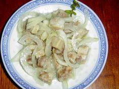 ČSN: Salát z rybího filé s majonézou a salát z tresky   pomazanky-recepty.cz Potato Salad, Shrimp, Low Carb, Potatoes, Meat, Chicken, Cooking, Ethnic Recipes, Food