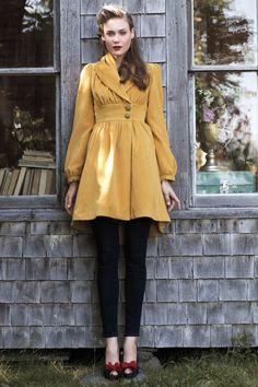 anthropologie / yellow coat !