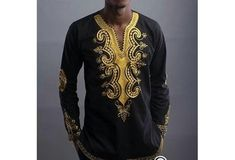 2016 New African Fashion Men's Long Sleeve Printed T-shirts [9325956036]