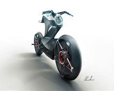 Футуристичный концепт мотоцикла Royal Enfield Pioneer. (5 фото)