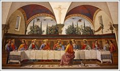 Last Supper Domenico Ghirlandaio In San Marco, 1486.