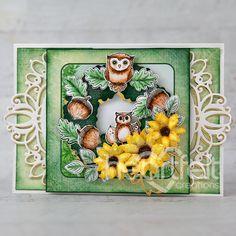 Green Paper, Autumn Wreaths, Heartfelt Creations, Flower Shape, Greeting Cards Handmade, Paper Design, Cardmaking, Paper Crafts, Seasons