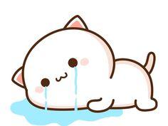 Cute Anime Cat, Cute Cartoon Images, Chibi Cat, Cat Couple, Couple Wallpaper, Kawaii Cat, Cat Stickers, Otaku Anime, Cat Gif