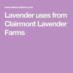 c7acf745d1a Lavender uses from Clairmont Lavender Farms Lavender Uses, Farms,  Homesteads, The Farm