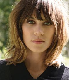 Alexa Chung For Madewell - I love her hair!