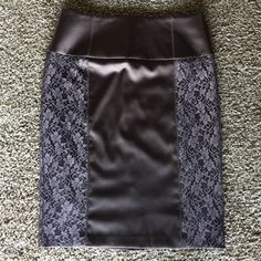 "Pencil Skirt Dark Brown Size 8 by VENUS New skirt with lace on bout sides .Length  23,5"" This skirt sits below you waist it's like mid rise pant Venus Skirts"