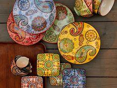 www.couleurnature.com - Paisley Ceramic bowls and plates