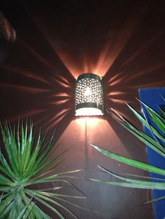 Rustic metal outdoor light cover great for your patio or inside too