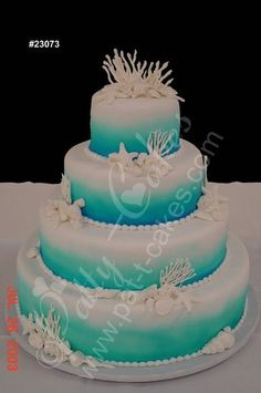 Pin Ocean Themed Wedding Decorations Ideas Beach Cake on Pinterest