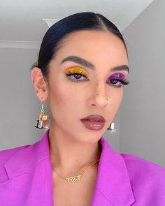 Summer fashion, summer trends, summer, style, beauty, makeup, eyeshade, mismatched eyeshadow Makeup Trends, Makeup Inspo, Makeup Inspiration, Summer Eyeshadow, Pink Eyeshadow, Eyeshadow Looks, Kiss Makeup, Makeup Art, Beauty Makeup