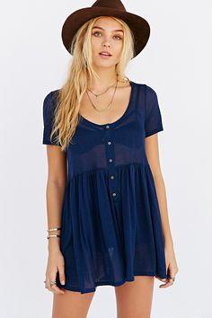 Project Social T Drop-Waist Suzie Tee - Urban Outfitters