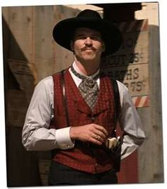 Val Kilmer as Doc Holiday... one of the best characters ever played! Tombstone