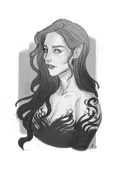 Feyre Archeron by ak-draws. ACOWAR Sarah J Maas