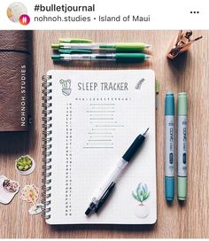 BuJo sleep tracker by @nohnoh.studies on Instagram