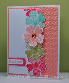 Stampin' Up! Flower Shop bundle Simple Card #HandStampedStyle