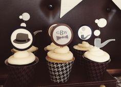 little gentleman cupcake picks
