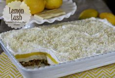 Melissa's Southern Style Kitchen: Lemon Lush with White Chocolate and Macadamia Nuts