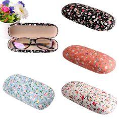 Portierbare Floral hart Sonnenbrille Brille Brillen Fall Box Beutel Augenschutz