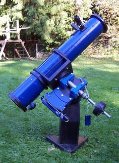 David Steinhauer's 6 inch f/8 Newtonian Telescope on a German Equatorial Mount