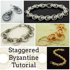 Staggered Byzantine Bracelet and Earrings Tutorial - Expert PDF