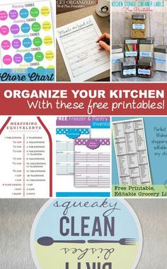 Is your kitchen in desperate need of organization? Use these free Kitchen Organization printables to help you de-clutter and stay on track!