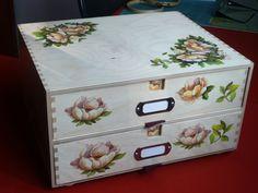 La scatola porta fili mulinè finita