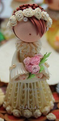 *QUILLING ~ quilled malaysian doll..so beautiful