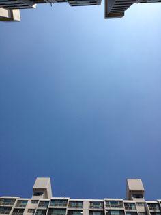 구름한점 없이 맑은날