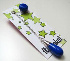 Asymmetrical blue glass earrings  medium sized by TamakoJewelry, €32,00