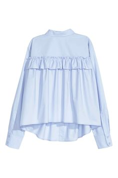 Wide blouse with a frill | H&M