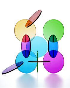 "ART HuNTER - Jacob Dahlgren - ""The Wonderful World of Abstraction"", 2008. Coloured plexiglas (10 cm)."