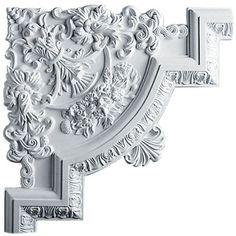Ekena Millwork Emery 15 x 15 x 1 Panel Moulding Corner Wall Panel Molding, Corner Moulding, Wall Trim, Diy Molding, Molding Ideas, Ceiling Tiles, Ceiling Design, Ceiling Decor, Cornices Ceiling