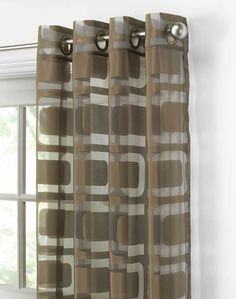 Othello Copper Grommet Window Geometric Curtains Panel Large Ideas