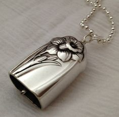 Knife Bell Pendant Daffodil 1950 Silverware Jewelry Vintage Silverplate Knife on Etsy, $25.00