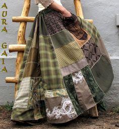 AuraGaia-Copia-Poorgirls-BoHo-Bustleback-Long-Patchy-Upcycled-Rock-S-XL AuraGai . - AuraGaia-Copia-Poorgirls-BoHo-Bustleback-Long-Patchy-Upcycled-Rock-S-XL AuraGaia-Copia-Poorgirls-Bo - Big Skirts, Long Maxi Skirts, Ropa Shabby Chic, Boho Chic, Fashion Mode, Boho Fashion, Moda Mori, Hippie Style, My Style