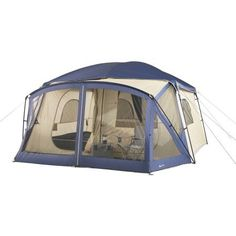 Cabin Tent With Screen Porch Blue Ozark Trail