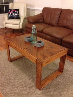 Custom Made Coffee Table/Herringbone Style by FocusedDesignsNC