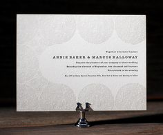 Fresh and sweet letterpress dandelion blossoms make artistic and modern wedding invitations with Erin Jang's Meadow.