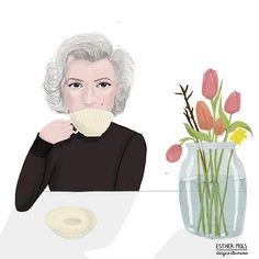 Marilyn Monroe. #marilynmonroe #oldholywood #portraitillustrator #inspirationalwomen Marilyn Monroe, Holi, Famous People, Tea Cups, Disney Characters, Fictional Characters, Portraits, Illustrations, Disney Princess