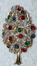 Vintage SPHINX A1266 Gold Tone with Rhinestone Christmas Tree Brooch/Pin  N57