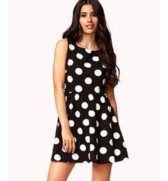 Forever 21 oversized polka dot skater dress