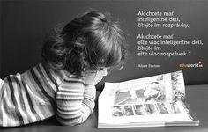 Chcete mať inteligentné deti? Einstein, Books, Libros, Book, Book Illustrations, Libri