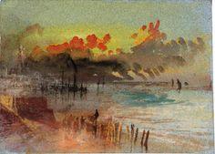 The Athenaeum - Harbour Scene at Sunrise, possibly Margate (Joseph Mallord William Turner - )