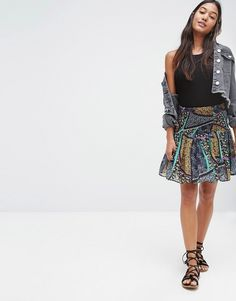 River+Island+Printed+Frill+Skirt