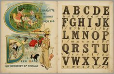vintage alphabet book