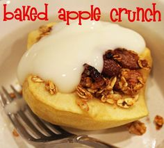 Baked Apple Crunch #Recipe: Check out this healthy alternative to apple pie @Craft Moore