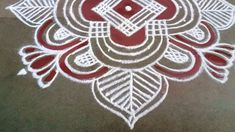 Simple Rangoli, Dots, Stitches