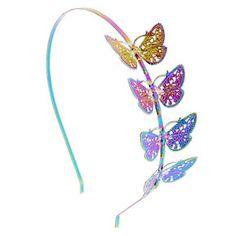Anodized Butterfly Headband,