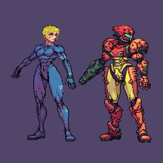 you know… i love her Cool Pixel Art, Anime Pixel Art, Anime Art, Game Character Design, Fantasy Character Design, Character Art, Metroid Samus, Samus Aran, Pixel Characters